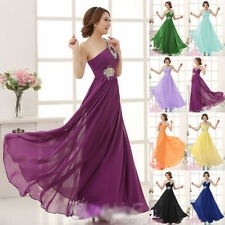 Best Sale Chiffon Evening Formal Party Ball Gown Prom Bridesmaid Long Dresses L