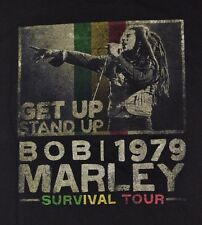Bob Marley Get Up Stand Up Survival Tour 1979 Zion Rootswear Licensed T-Shirt