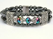 Women's Powerful Magnetic Hematite Tibet Bracelet Anklet 2 Row 8 Color Choices