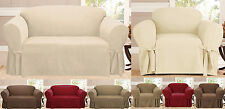 Micro Suede Furniture Protector Slip Cover for Sofa Loveseat Chair  - 4 Colors