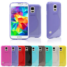 Ultra Slim S-Curve Soft TPU Frosted Gel Case Cover for Samsung Galaxy S5 i9600