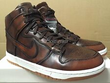 NIKE DUNK LUX BURNISHD SP CLASSIC BROWN HI BURNISHED BURN LAB 747138-221 SZ 7-11