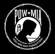 POW/MIA BARBED WIRE vinyl decal stickers for car wall or any smooth surface