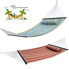 Double Hammock With Space Saving Steel Stand Includes Portable Carrying Case GSD