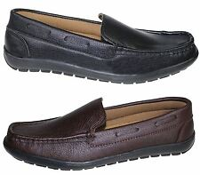 MENS SLIPON BOAT DECK MOCASSIN COMFORT WALKING LOAFERS DRIVING CASUAL SHOES NEW