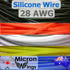28AWG Silicone Wire Cable for RC LIPO - By The Metre