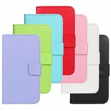 Luxury PU Leather Card Holder Flip Case Cover For All Samsung Galaxy Phone