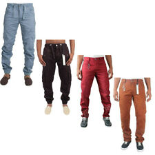 MENS JEANS ETO BLUE CUFFED JOGGER COMBAT STYLE JEANS WAIST SIZE 28-42