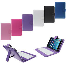 7 inch Universal Leather Case Cover with Micro USB Keyboard For Tablet PC Gift
