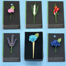 "Tussie Mussie Flowers for ""Poirot"" Vintage-Style Lapel Pin Vases, Posy Holders."