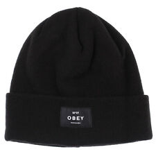 New Obey Vernon Beanie in Black | headwear Womens Headwear Womens Beanies