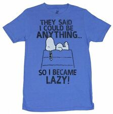 Peanuts SNOOPY They Said I Could Become Anything So I Became Lazy Soft Shirt NEW