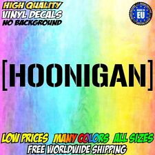 HOONIGAN Small - XXL Large size Vinyl Sticker Decal Car Body Window Color Drift