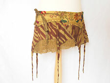 GYPSY RAGADY WRAP SKIRT Short Tribal Psy Trance Pixie Embroidered Goa Festival