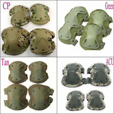 Tactical Adjustable Airsoft Combat Protective Knee + Elbow Pad Skate Knee Pads