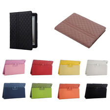 Diamond Pattern Leather Skin Case Cover Protector Kickstand For Apple iPad 2 3 4