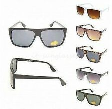 Celebrity Square Flat Top Classic Fashion Plastic Aviator Mens Sunglasses 80s
