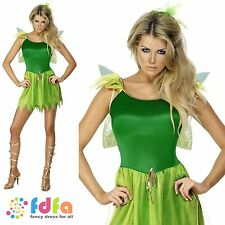 WOODLAND FAIRY TINKERBELL PETER PAN - 8-14 - adults ladies fancy dress costume