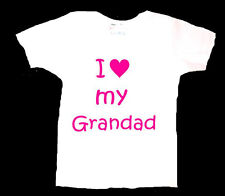PERSONALISED I LOVE GRANDAD GRANDPA GRAMPS DAD DADDY BABY T SHIRT BIRTHDAY GIFT