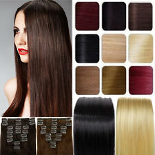 Luxury 100% Real Clip in Remy Human Hair Extensions Full Head AU Salon Quality