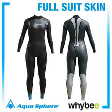 AQUA SPHERE LADIES WOMENS AQUA SKINS FULL SUIT SKIN LADY OPEN WATER WETSUIT