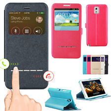 Flip PU Leather Case Cover Skin View Window for Samsung Galaxy s3/s4/s5/Note 3