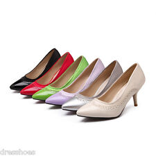 Women's High Heel Shoes Synthetic Leather&Suede Fabric Pumps Size AU 2~14.5 D400