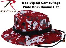 Digital Red Camouflage Military Police Tactical Bucket Hunting Boonie Hat 5411