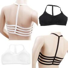 Celebrity Sexy Women Bralette Cage Caged Back Cut Out Padded Bra Bralet Crop Top