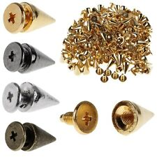 100x Cone Spots Metal Spikes And Studs For Clothing Screwback Rivet Leathercraft