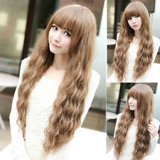 New Hot Sexy Women Lady Cosplay Wavy Curly Long Hair Full Party Costume Wigs