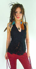 Pixie camisole Lace ruffled burlesque steam punk elfin pirate party tribal dance