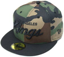 NHL Los Angeles Kings Script New Era 59Fifty Fitted Cap Hat - Camo/Black