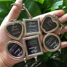 Creative Mini Metal Alloy Insert Photo Picture Frame Keyring Keychain Gifts NEW
