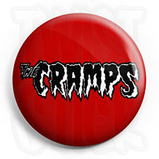 The Cramps Logo - 25mm Psychobilly Punk Button Badge with Fridge Magnet Option