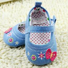 Lovely Baby Girls Casual Soft Sole Butterfly Medium Shoes Crib Shoes 11 12 13