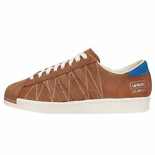 Adidas Consortium Superstar 80v UNION Mens Fashion Brown Suede Casual Shoes