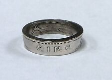 Ring hand made from Irish 1 SHILLING