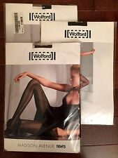 $45 Wolford Madison Avenue Rhapsody Ocean Drive Net Pantyhose Tights Stockings