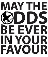 Hunger Games May The Odds Be Ever in Your Favour Mockingjay Decal Vinyl Sticker