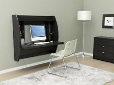 NEW Home Office Furniture Black Floating Wall Computer Desk With Storage Mounted