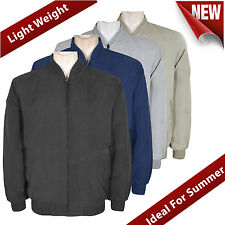 Mens Summer Jackets Lightweight Jacket Zip Up Sizes M L XL XXL