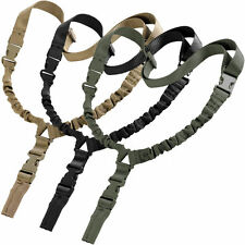 NEW Tactical 1 One Single Point Adjustable Bungee Rifle Gun Sling System Strap