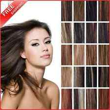 "USA 16""18""20""22"" Clip In Remy Human Hair Extensions 100%  Full Head Cheap 100g"