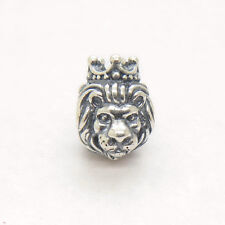 NEW Authentic S925 Sterling Silver LION HEAD SILVER CHARM Bead