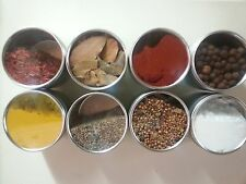 Fresh Gourmet Cooking Spices Vegan and more..  HERBS 4oz stainless clear lit