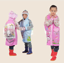 Adorable Kids Children Raincoat Outerwear 3 Different Patterns To Choose From