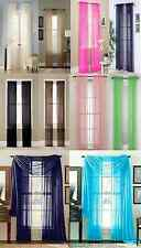 "2 PCS WINDOW CURTAINS SHEER PANELS  TREATMENT DRAPES 63"" 84"" 95""  MANY COLORS"