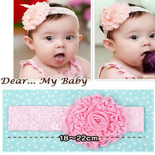 Cute Girl Toddler Hairband Infant Kid  Headdress Big Flower Lace Bow Accessories