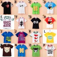 2015 Kids Boy Girl Baby Summer Short Sleeve T-shirt Top clothes for 2-7years